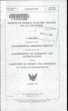 Effects of Federal Economic Policies on U S  Industries PDF