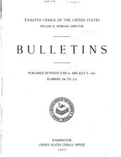 Bulletins of the twelfth census of the United States: issued from October 6, 1900 to [October 20, 1902] ... number 4 [-247], Issues 209-232