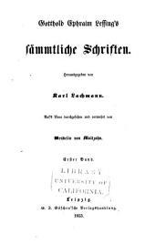 Gotthold Ephraim Lessing's S Mmtliche Schriften: Band 13