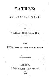 Vathek. By William Beckford ... The Castle of Otranto. By Horace Walpole ... The Bravo of Venice. By M. G. Lewis. With portraits