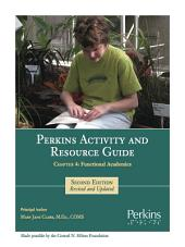 Perkins Activity and Resource Guide - Chapter 4: Functional Academics: Part 4