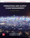 Operations And Supply Chain Management 16e PDF
