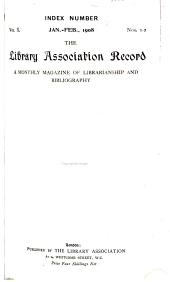 Library Association Record: Volume 10