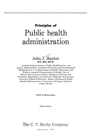 Principles of Public Health Administration PDF