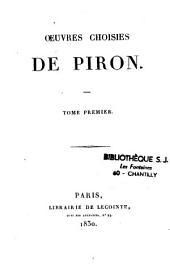 Oeuvres choisies de Piron....