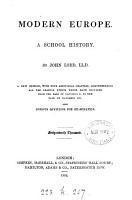 Modern Europe  a school history  To 1859  To the fall of Napoleon iii PDF