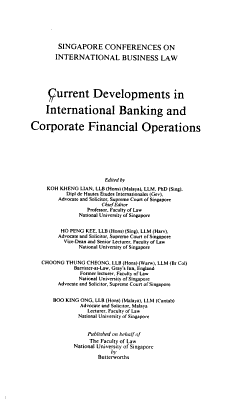 Current Developments in International Banking and Corporate Financial Operations PDF
