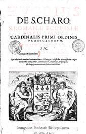 Hugonis de S. Charo, S. romanae ecclesiae Tituli S. Sabinae cardinalis primi ordinis praedicatorum ...Opus admirabile omnibus concionatoribus in quo declarantur sensus omnes, litteralis scilicet, Allegoricus, tropologicus et anagogicus nunc primum in ....., post Venetas et Coloniensem editiones... in lucem prodit