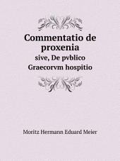 Commentatio de proxenia