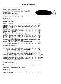 Minutes of the     Annual Convention of the New York State Conservation Council