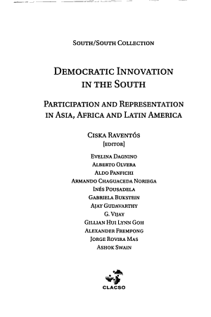 Democratic Innovation in the South PDF