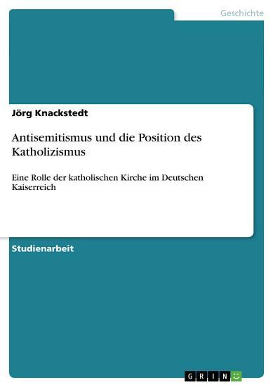 Antisemitismus und die Position des Katholizismus PDF