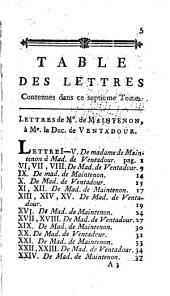 Mémoires et lettres de Mme de Maintenon: Volume13