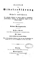 Handbuch der Bibelerkl  rung f  r Schule und Haus PDF