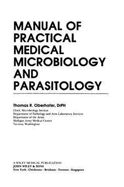 Manual of Practical Medical Microbiology and Parasitology PDF