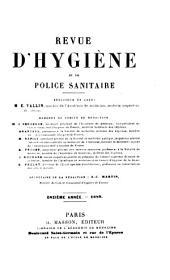 Revue d'hygiène et de police sanitaire: Volume11