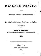 Luthers werke: Bände 23-24