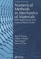 Numerical Methods in Mechanics of Materials  3rd ed PDF