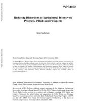 Reducing Distortions to Agricultural Incentives: Progress, Pitfalls, and Prospects