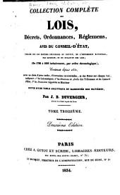 Collection complète des lois, décrets d'intérét général, traités interanationaux, arrêtés, circulaires, instructions, etc: Volumes3à4