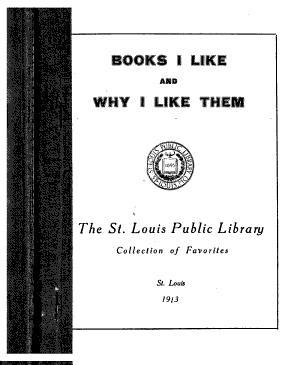 Books I Like and why I Like Them