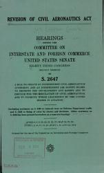 Revision of Civil Aeronautics Act PDF