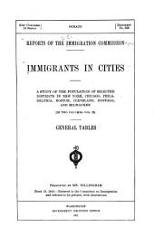 Immigrants in cities