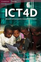 ICT4D  Information and Communication Technology for Development PDF