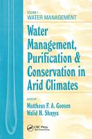 Water Management  Purificaton  and Conservation in Arid Climates  Volume I PDF