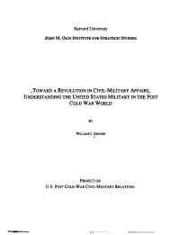 Toward a Revolution in Civil military Affairs PDF