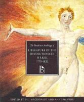 The Broadview Anthology of Literature of the Revolutionary Period 1770 1832 PDF
