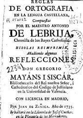 Reglas de ortografia en la lengua castellana