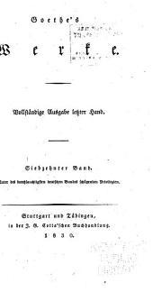 Goethe's Werke: Bände 17-18