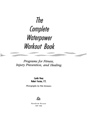 The Complete Waterpower Workout Book
