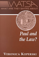 What are They Saying about Paul and the Law?