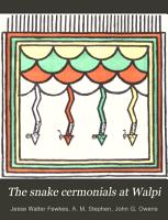 The Snake Cermonials at Walpi PDF