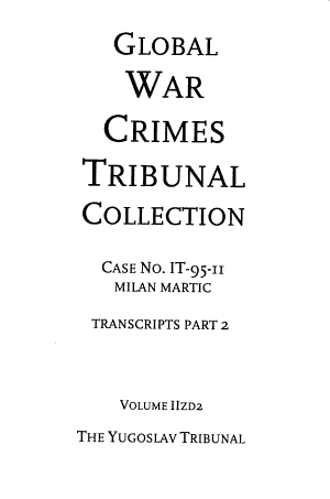 Global War Crimes Tribunal Collection