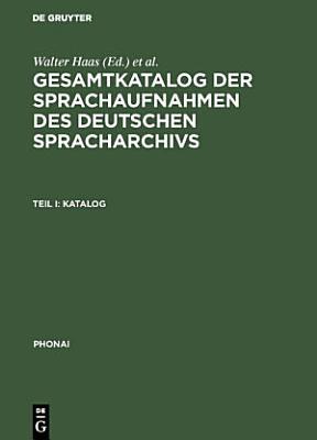Gesamtkatalog der Sprachaufnahmen des Deutschen Spracharchivs PDF