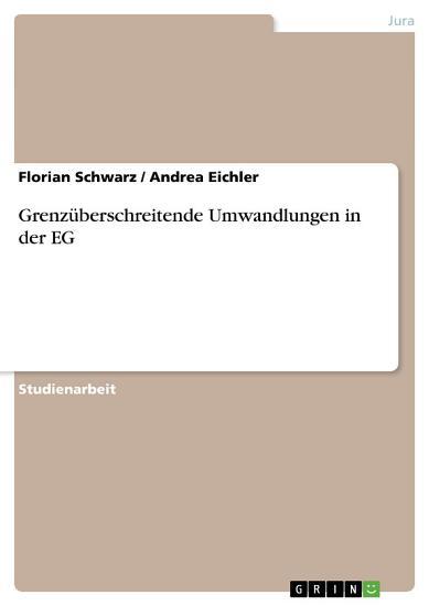Grenz  berschreitende Umwandlungen in der EG PDF