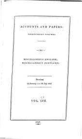 Parliamentary Papers: Volume 57
