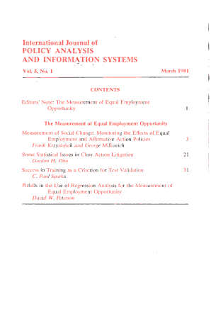 International Journal of Policy Analysis and Information Systems PDF
