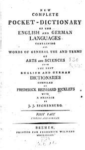 Neues Vollst  ndiges Taschenw  rterbuch Der Englischen und Deutschen Sprache PDF