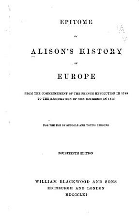 Epitome of  his  History of Europe PDF