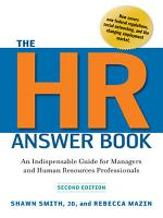 The HR Answer Book PDF