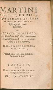 Ad Nic. Frischlini Celetismum a. 1588 editum Responsio