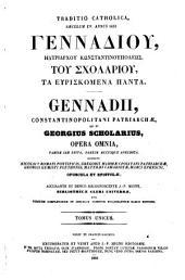 Patrologiae cursus completus ...: Series graeca, Τόμος 160