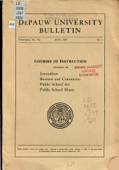 Courses of Instruction Offered in Journalism, Business and Commerce, Public School Art, Public School Music