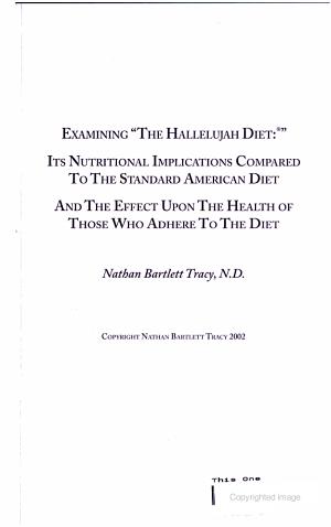 Examining  the Hallelujah Diet