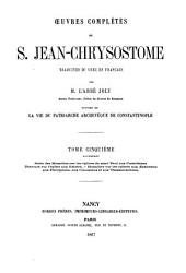 Oeuvres complètes de S. Jean-Chrysostome