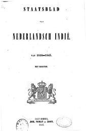 Staatsblad van Nederlandsch Indië van 1816-1845, met register